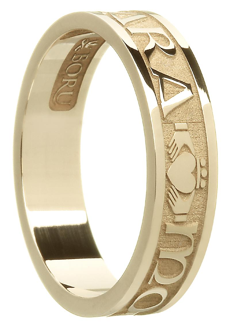 Gaelic Script Wedding Rings