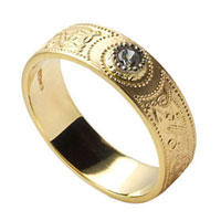 Celtic Shield Wedding Rings