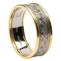 Celtic Spiral Wedding Rings