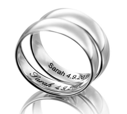 band wedding engraved store b rings etched platinum