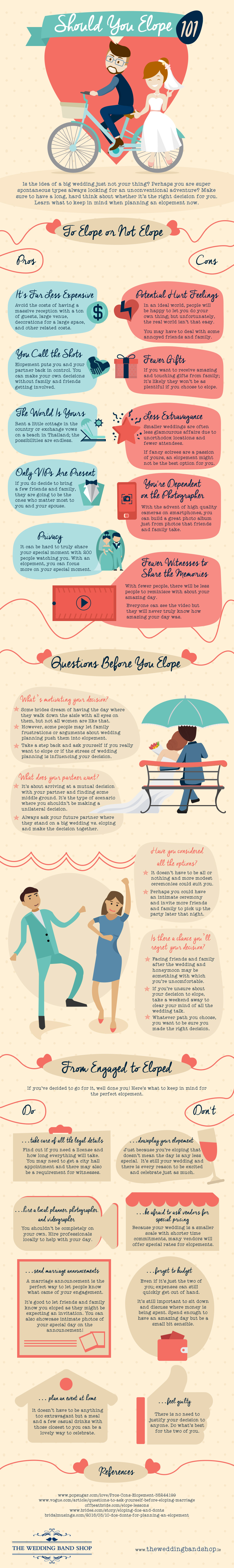 should you elope infographic