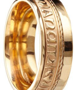 Gold 'Mo Anam Cara' Claddagh Band