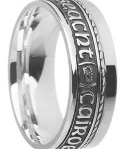 Sterling Silver 'Gra Dilseact Cairdeas' Ring