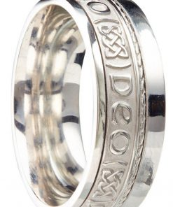 Sterling Silver 'Gra Go Deo' Wedding Ring