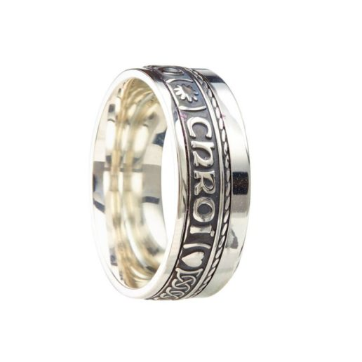 Sterling Silver 'Gra Gael Mo Chroi' Ring