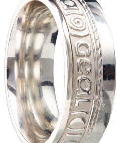 Sterling Silver 'Gra Gael Mo Chroi' Ring