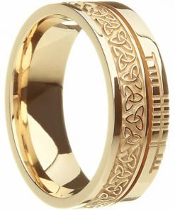 Gold Trinity Knot Ogham Wedding Ring