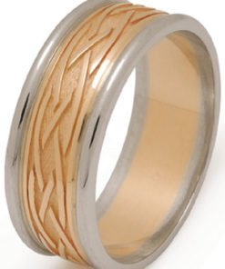 Gold Celtic Weave Wedding Ring with Rims