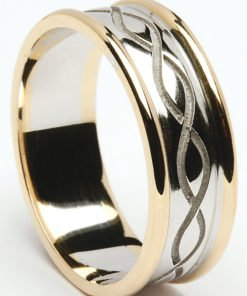 Celtic Weave Wedding Rings