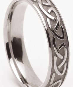 Handcrafted Sterling Silver Trinity Knot Band