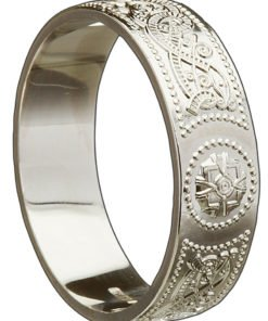 Gold Celtic Shield Wedding Band
