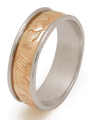 Love, Friendship, Loyalty Gold Claddagh Wedding Ring