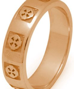 Gold Celtic Cross Wedding Ring