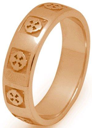 Gold Celtic Cross Wedding Ring