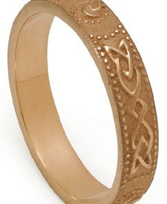 Gold Celtic Shield Wedding Ring