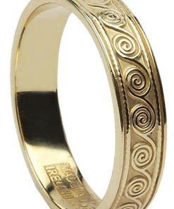 Gold Celtic Spiral Wedding Ring