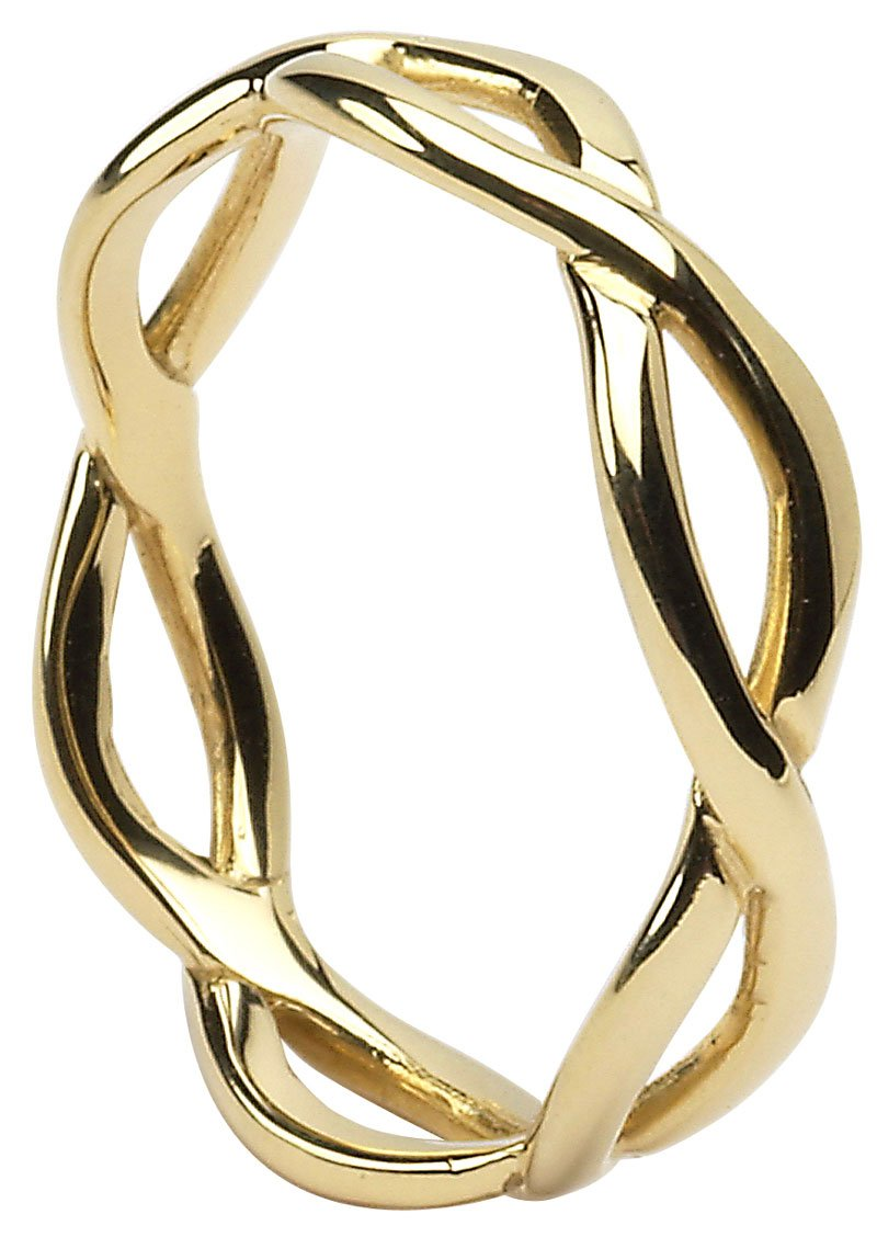 Classic Gold Celtic Infinity Knot Wedding Ring The Wedding Band Shop