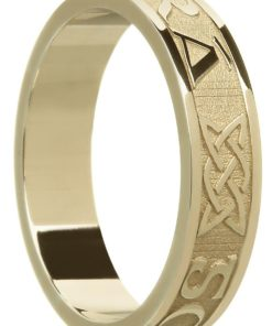'Gra Go Deo' Gold Celtic Wedding Ring