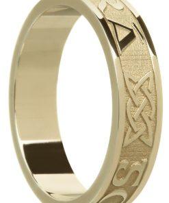 'Gra Go Deo' Gold Celtic Wedding Ring