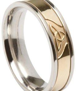 Modern trinity knot wedding ring