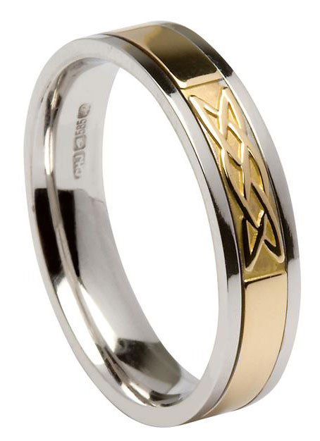Gold Celtic Knot Wedding Ring