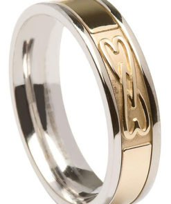 Contemporary Lover's Knot Celtic Wedding Ring