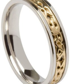 'Gra Go Deo' 14k Two Tone Wedding Band