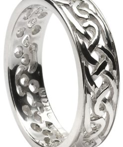 Silver Celtic Knot Filigree Band