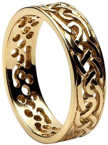 Gold Celtic Knot Filigree Wedding Band
