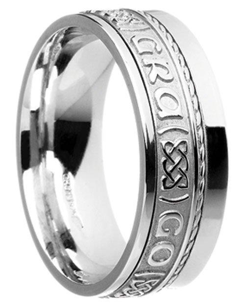 Gold 'Gra Go Deo' Wedding Ring