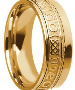 Gold 'Gra Go Deo' Wedding Ring