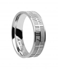 Ogham silver celtic ring