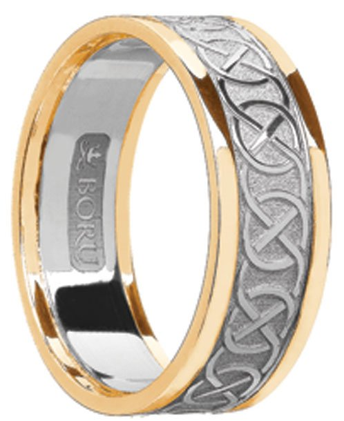 Celtic Knot Wedding Band with Rims