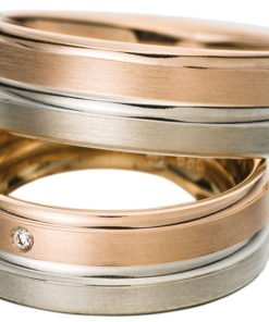 Rose Gold and White Gold wedding ring