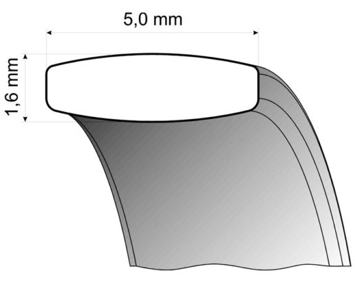 steel ring comfort fit profile