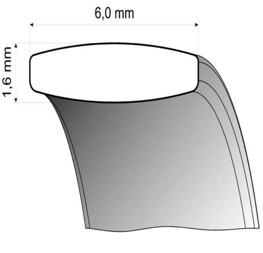 steel wedding ring profile