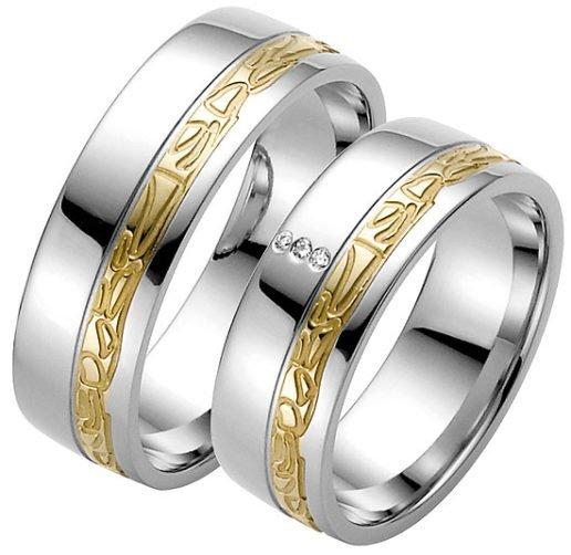 Modern Stainless Steel Wedding Ring
