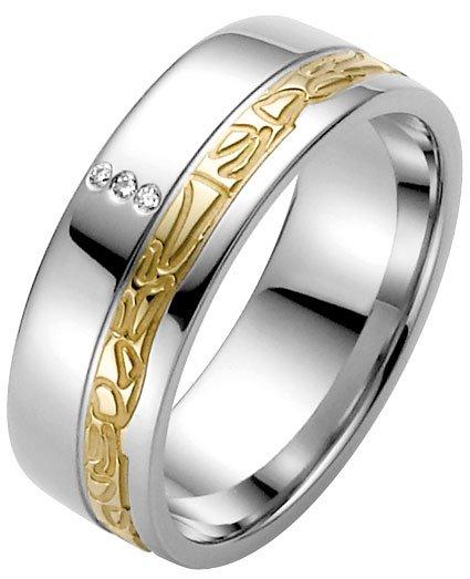 Ladies Dimond Set Stainless Steel Wedding Ring