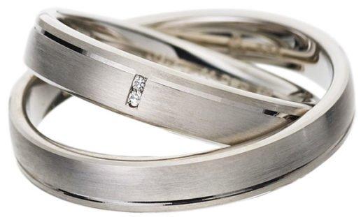 White Gold Wedding Ring with Satin Finish