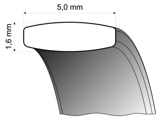 Palladium Wedding Ring profile