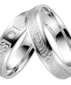 modern Palladium Wedding Ring