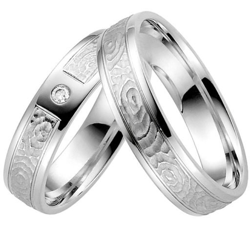 modern Palladium Wedding Ring