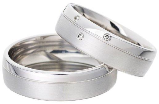 modern wedding ring set