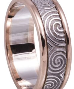 Rose Gold Celtic Wedding Rings