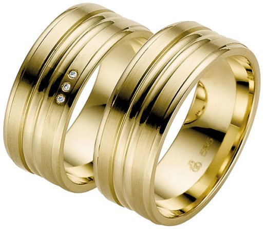 Contemporary Wide Yellow Gold Wedding Ring