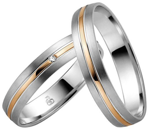 Palladium and Rose Gold Wedding Ring
