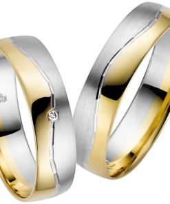 Palladium with Yellow Gold Wedding Ring