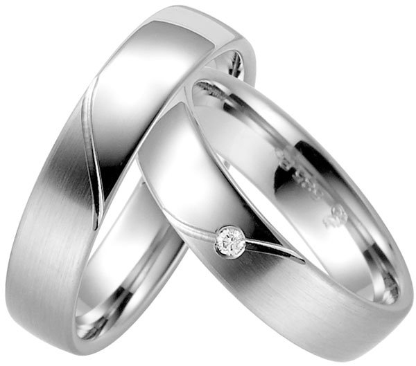 Platinum Wedding Ring With Matt Polished Finish
