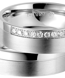 Wide Palladium Wedding Ring