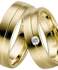 Contemporary Yellow Gold Wedding Ring